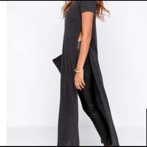 Lulu's Ribbed Tunic With Side Slits